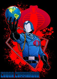 Cobra Commander by dwaynebiddixart Cobra Art, Cobra Commander, Gi Joe Cobra, Movie Themes, Character Poses, Comics Girls, Cartoon Shows, Comic Books Art, Book Art