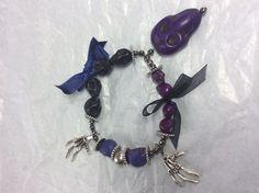 Bracelet gothic purple