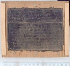This is a wax tablet, one of the oldest form of manuscripts, the oldest dates from 14th-century BCE.  Birth certificate in Latin and Greek 128 AD P.Mich.Inv 766 University of Michigan Library. Allowed to use as long as you attribute the University of Michigan Papyrology Collection as the source for the image