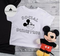 Excited to share the latest addition to my #etsy shop: Social Disneying, Mask Mickey, Disney quarantine, Disney Covid, Disney corona, Disney shirt, quarantine disney, Disney Shirt, Disney T Shirt Disney Vacation Shirts, Disney World Shirts, Disney Shirts For Family, Family Shirts, Disney Style, Disney Disney, Disney Cruise, Matching Disney Shirts, Minnie Mouse Shirts