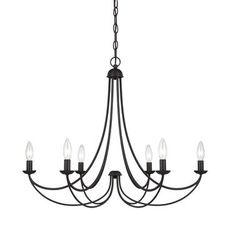 Quoizel Mirren 6-Light Chandelier in Imperial Bronze Finish