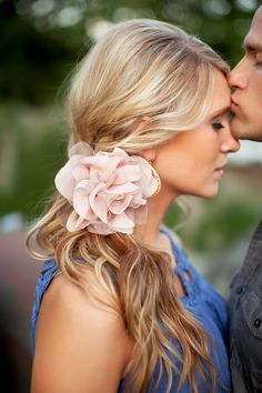 At one point while studying you told me you wanted long wavy hair with flowers in it for your wedding
