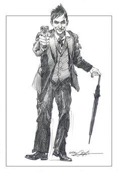 The Penguin by Neal Adams #Gotham #Batman Comic Book Artists, Comic Books Art, Comic Art, Im Batman, Batman Art, Gotham Batman, Marvel Dc, Comic Character, Character Design
