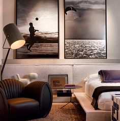 Um quarto de homem que achei bonito.