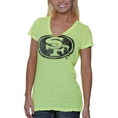 Touch by Alyssa Milano San Francisco 49ers Ladies Look At Me Burnout T-Shirt - Neon Yellow