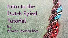 Dutch Spiral Tutorial - Intro to the Dutch Spiral Beading Stitch