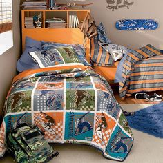 6. Company Kids Sports Extreme Quilted Bedding - 8 Best Bedding Sets for Your Little Boy ... | All Women Stalk