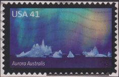 Postage Stamps - United States of America [USA] - Polar Light Stamp Collecting, Getting Old, Postage Stamps, Aurora, United States, America, Antarctica, Islands, Artist