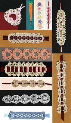 Priscilla's Bookmarkers ~ free patterns i know these are book marks but i would love to add some ribbon and make them headbands