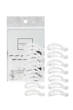 Style Deals - A set of eyebrow stencils featuring left and right stencils in seven different styles.
