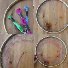 Dreamcatcher Instructions with Pictures | We created a second one with 3 colors, and freestyled our pattern a ...