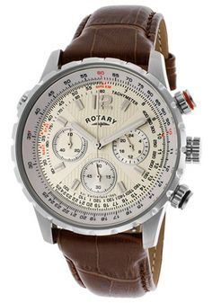womens rotary ladies ls02838 01 jewelry and accessories men s chrono brown genuine leather ivory dial rotary watchesmen s