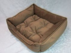 Small Plush Cozy Orthopedic Pet Bed 22 inches x 20 inches x 6 inches Dog Cat Kitten Puppy All Washable Fabric and Washable Orthopedic Filling Blue Burgandy Red Tan Light Brown By Just4Pets Made in the USA Tan  Light Brown *** Check out this great product.