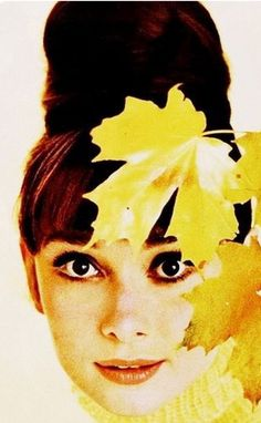 Audrey Hepburn in a yellow tricot sweater by Balmain-Photo by Howell Connant-New York-1963-Flickr-