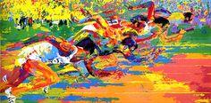 Olympic Track   LeRoy Neiman #leroyneiman