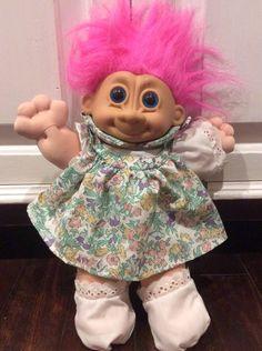 "Russ Troll Kidz 12"" Plush Troll Doll, Pink Haired Troll Kidz, Russ Troll Dolls, Vintage Russ Troll Doll, Trolls, Troll, Large Russ Trolls by Lalecreations on Etsy"