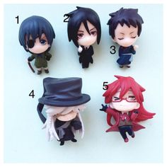 Last few  Custom kawaii anime manga Black Butler от YYKawaii