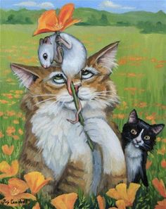 "Daily Paintworks - ""Shiska Mouse"" - Original Fine Art for Sale - © Joy Campbell"