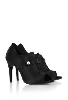 Pedro Garcia Selina Peeptoe Satin Shoe Boot