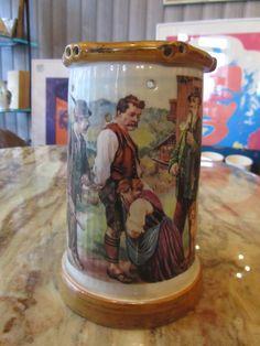 Scherzkrug Keramik-Krug bemalt Handarbeit Kühr Mühlried | eBay