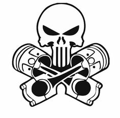 Skull and Pistons Decal for Car and Home: Skull by ArtisticAttires