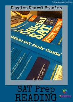 SAT Prep Reading - Developing Neural Stamina in High School How can your teen prep for the SA High School Years, In High School, High School Students, Law School, Sat Test Prep, Sat Prep, High School Organization, High School Curriculum, Elementary Schools