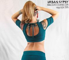 """Urban Gypsy Apparel featured style: Bra-choli with armbands. """"Cleverly designed for structure and support...AND...you can wear a bra with it and your straps won't show!!! Pattern is specifically made to cover bra straps. That was my prime focus when designing the pattern, as there are no other cholis on the market that provide this feature, that I know of.     (((coming soon!)))  http://www.scarletslounge.com"""""""