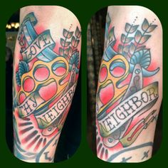 traditional tattoos | Love Thy Neighbor Traditional Tattoo