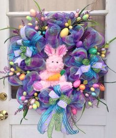Easter Deco Mesh Wreath https://www.etsy.com/shop/IslandGirlWreaths?ref=l2-shopheader-name