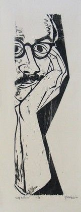 Antonio Frasconi - Autorretrato. Xilogravura, 1951