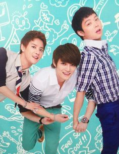 JYJ my babies..so young there.. But still too old ;n;