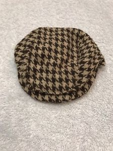 Dog Hat Size M/L Clothes Apparel Outfit Two Tone Zig Zag BrownDriver Style  | eBay