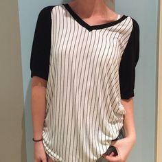 Brandy Melville black and white tshirt Black and white stripe Brandy Melville Tops Tees - Short Sleeve