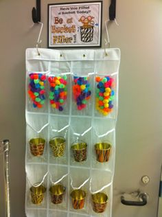 Bucket Filler Idea - Have large clear jar and use pom-poms to fill each time someone does something nice for someone else. Possible class reward activity when full