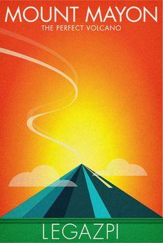MOUNT-MAYON | Poster drive to help Philippine tourism. | Teammanila Graphic Design Studio | Flickr Philippines Tourism, Bohol Philippines, Filipino Art, Philippine Holidays, Tourism Poster, Art Deco Posters, Graphic Design Studios, Walk This Way, Poster