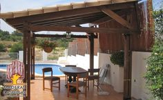 Superbe Solid Patio Cover With Roofing Material On Top.