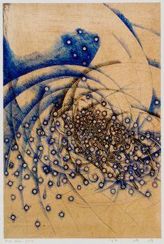 BACKBONE OF THE WIND - D-6.Nov.2014 42x28cm pen drawing on Gampi Paper 林孝彦 HAYASHI Takahiko