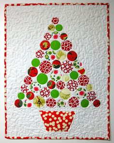 For Ellie's Christmas outfits- make a wall hanging to display at Christmas!! All About Christmas Swap - Christmas Tree by Sandy in Buenos Aires, via Flickr