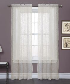 Loving this Ivory Duke Garden Curtain Panel - Set of Two on #zulily! #zulilyfinds