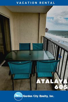 Atalaya Tower 605 is a well-maintained three-bedroom, two-bath condo at this oceanfront complex located 0.5 miles north of the Garden City Pier. Four color TVs (cable), DVD player, and Wi-Fi are also available. Sleeping accommodations include one king, one double, one queen, one twin, plus a full sofa bed. Amenities: enclosed swimming pool, hot tub, outdoor swimming pool and elevators. Two parking passes per unit. No smoking & pets. Check-out maid service & linens included. Maximum occupancy: 9
