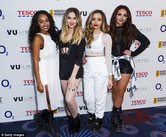 Complementing ensembles: The band stepped out in monochrome outfits to attend the Nordoff ...