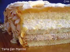 Tarta San Marcos http://es.pinterest.com/juliaromeroamar/sopas-cremas-y-salsas/