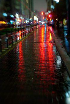 Downtown Lights by Adam Baker