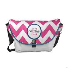 Dark Pink and Navy Blue Monogram Diaper Bag by bellababydesign #zazzle #monogram #diaperbag #momtobe #momtobegifts