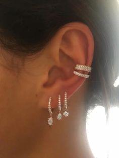 Ear Jewelry, Crystal Jewelry, Crystal Earrings, Fine Jewelry, Jewellery, Tragus Jewelry, Dainty Jewelry, Chandelier Earrings, Body Jewelry