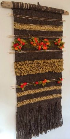Wool Wall Hanging, Yarn Wall Art, Weaving Wall Hanging, Tapestry Weaving, Loom Weaving, Hand Weaving, Creative Textiles, Weaving Projects, Woven Rug