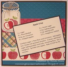 Perfectly Preserved - Recipe scrapbook