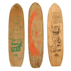 1stdibs | 1960s Illustrated Skateboards, Set of 3.