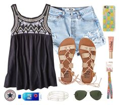 """""""Sunny dayz with baez🌞"""" by cammie0825 ❤ liked on Polyvore featuring American Eagle Outfitters, Casetify, Billabong, Too Faced Cosmetics, Alex and Ani, Lilly Pulitzer and Ray-Ban"""