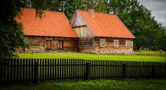Open-air museum of folk architecture in Olsztynek, Poland